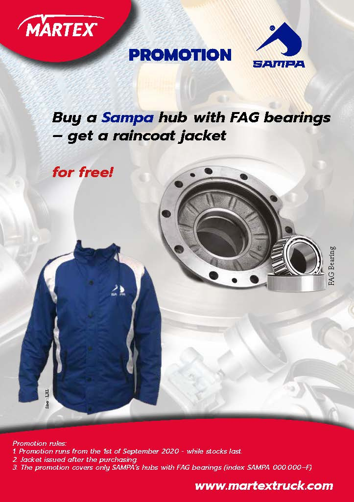 Sampa promotion hubs with Fag bearings